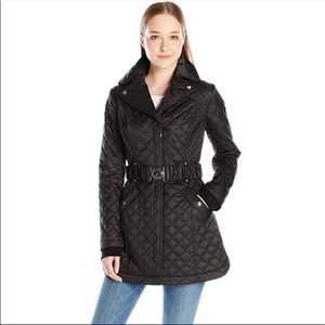 Laundry Shelli Segal Quilted black puffer coat
